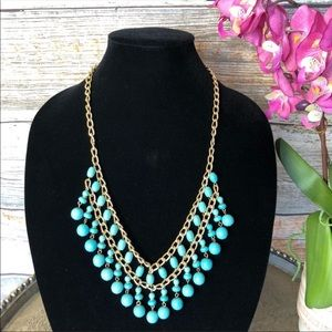 Vintage Statement Turquoise beaded necklace